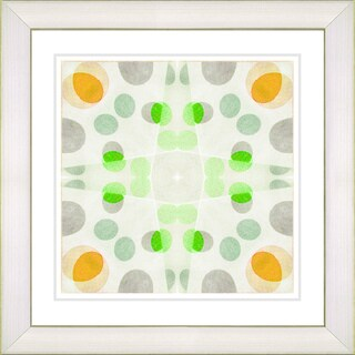 Studio Works Modern 'Origami Pattern - Green' Framed Print