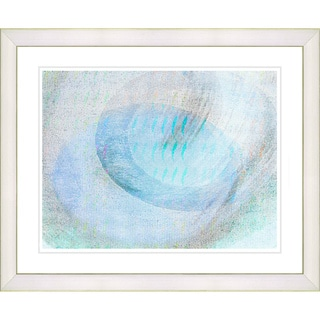 Studio Works Modern 'Wind Play - Turquoise' Framed Print