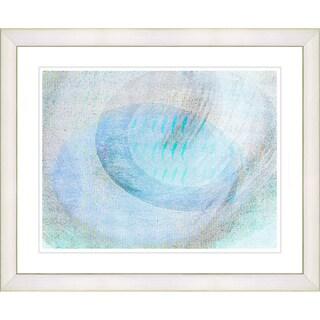 Studio Works Modern 'Wind Play - Turquoise' Framed Print