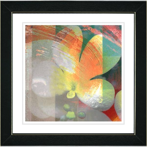 Studio Works Modern 'Morning Glory - Orange' Framed Print