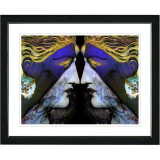 Studio Works Modern 'Enigma - Blue' Framed Print