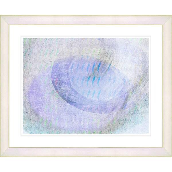 Studio Works Modern 'Wind Play - Blue' Framed Print