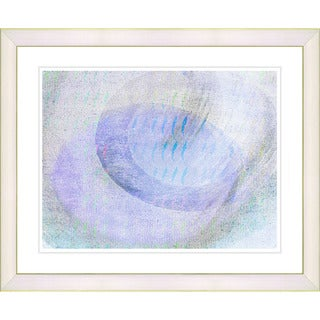 Studio Works Modern 'Wind Play - Blue' Framed Print