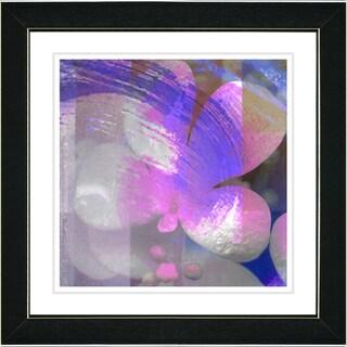 Studio Works Modern 'Morning Glory - Purple' Framed Print