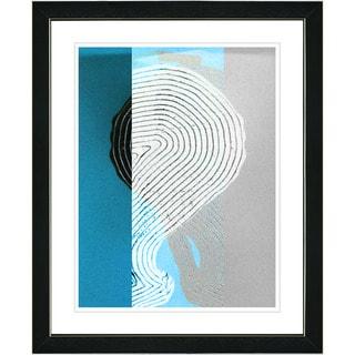 Studio Works Modern 'Signature - Turquoise' Framed Print