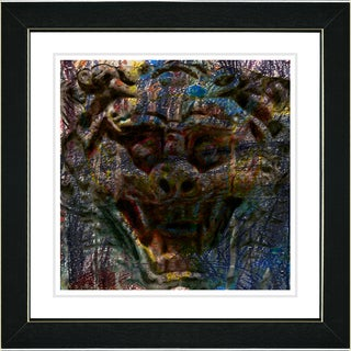 Studio Works Modern 'Gargoyle - Blue' Framed Print