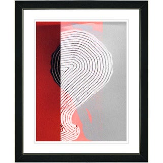 Studio Works Modern 'Signature - Red' Framed Print