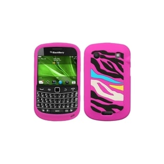BasAcc Rainbow Zebra/ Hot Pink Case for Blackberry Bold 9930/ 9900