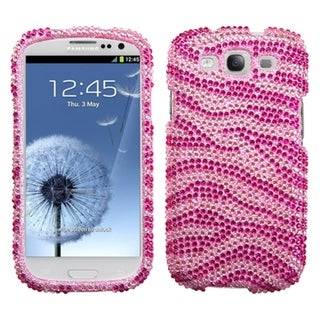 BasAcc Zebra Skin Pink Bling Case for Samsung Galaxy S III/ S 3 i9300