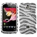 BasAcc Black Zebra Skin Diamante Case for Huawei U8730 myTouch Q