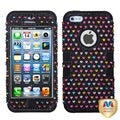BasAcc Black/ Sprinkle Dot Diamante Case for Apple iPhone 5