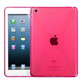 INSTEN Hot Pink X Shape Candy Skin Tablet Case Cover for Apple iPad Mini