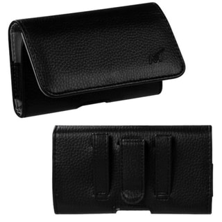 BasAcc Black/ Gray Textured Horizontal Pouch 2901 for Apple� iPhone 5