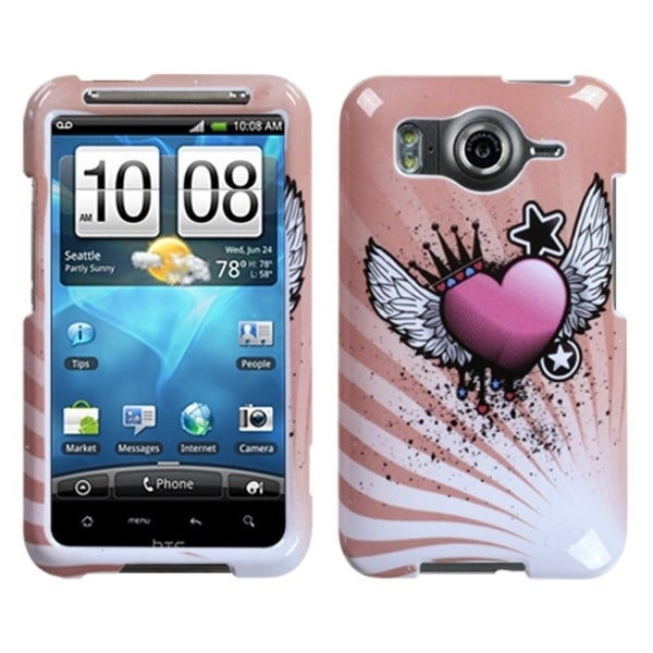 INSTEN Crowned Heart Phone Case Cover for HTC Inspire 4G