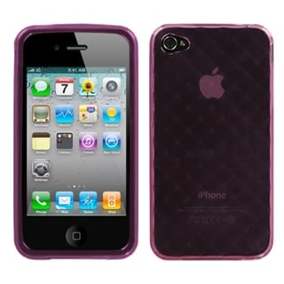 INSTEN Purple Diamond Candy Skin Phone Case Cover for Apple iPhone 4/ 4S