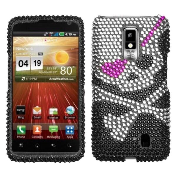 INSTEN Skull Diamante Phone Case Cover for LG VS920 Spectrum