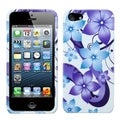 BasAcc Blue Hibiscus Flower Romance Protector for Apple iPhone 5