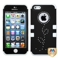 BasAcc Black/ White TUFF Hybrid Protector Case for Apple iPhone 5