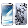 BasAcc Butterfly Monochrome Protector Case for Samsung Galaxy Note 2