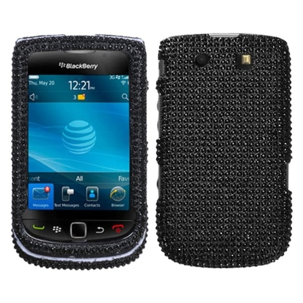 INSTEN Black Diamante Protector Diamante 2.0 for BlackBerry 9800 Torch
