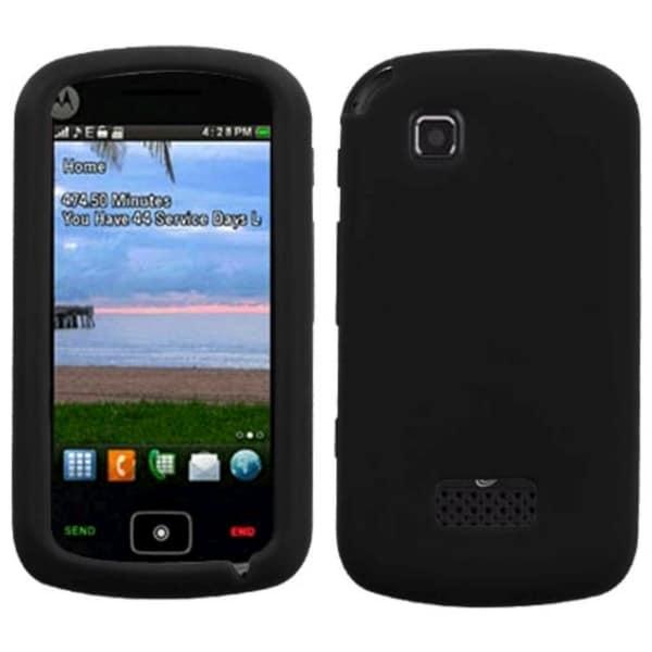 INSTEN Black Solid Skin Phone Case Cover for Motorola EX124G