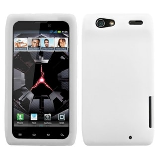 BasAcc White Solid Skin Case for Motorola XT912M Droid Razr Maxx
