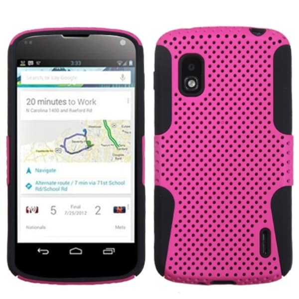 BasAcc Hot Pink/ Black Astronoot Protector Case for LG E960 Nexus 4