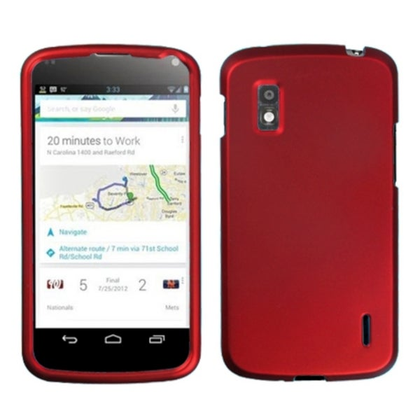 BasAcc Titanium Solid Red Phone Protector Case for LG E960 Nexus 4