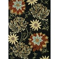 Hand-tufted Leighton Black Wool Rug (5'0 x 7'6)