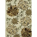"Hand-Tufted Leighton Ivory Wool Area Rug (7'6"" x 9'6"")"