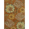 Hand-tufted Leighton Orange Wool Rug (5'0 x 7'6)