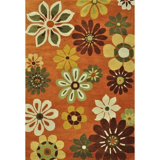 Hand-tufted Leighton Multi Wool Rug (5'0 x 7'6)