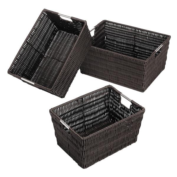 Whitmor Rattique Storage Baskets (Set of 3)