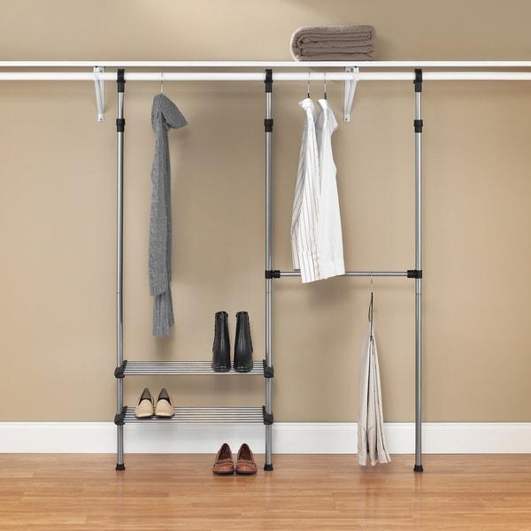 whitmor closet rod system storage rack 15365955. Black Bedroom Furniture Sets. Home Design Ideas