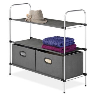 Whitmor 3-tier Shelf Unit with Collapsible Drawers