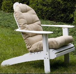 Adirondack Beige Outdoor Chair Cushion