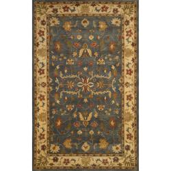Hand-tufted Anatolia Grey Wool Rug (2'3 x 8')