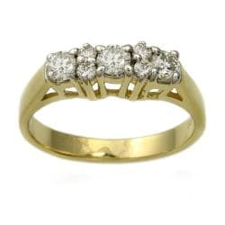 Beverly Hills Charm 14k Yellow Gold .50 ct. TDW 3-Stone Prong Diamond Ring