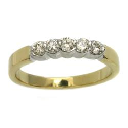 Beverly Hills Charm  14k Yellow Gold 1/4 ct. TDW Diamond Bezel Band Ring