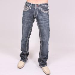 Laguna Beach Men's 'Laguna Beach' White Stitch Crystal Jeans