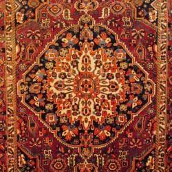 Persian Hand-knotted Bakhtiari Rust/ Navy Wool Rug (6'6 x 9'10)