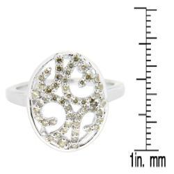 10k White Gold 1/2ct TDW Brown Diamond Fashion Ring