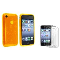 Clear White Flower TPU Case/ Screen Protector for Apple iPhone 3G/ 3GS
