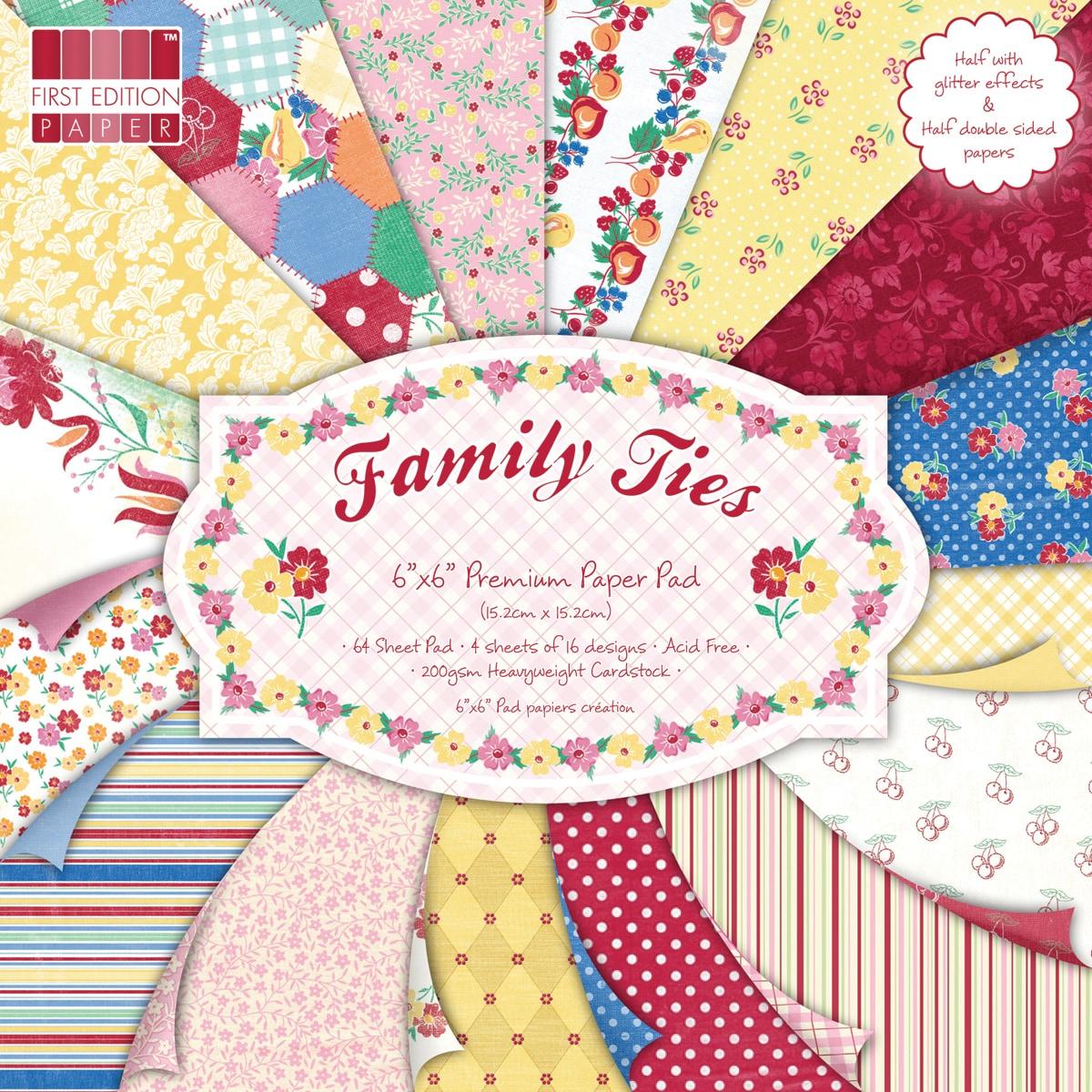 "Premium Paper Pad 6""X6in 64/Sheets-Family Ties"