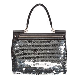 Dolce & Gabbana 'Miss Sicily' Sequined Satchel