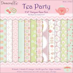Tea Party Paper Pack 8