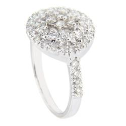 18k White Gold 4/5ct TDW Diamond Fashion Ring (G-H, SI1-SI2)