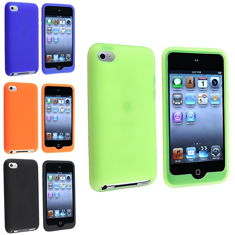 Green/ Blue/ Orange/ Black Case for Apple iPod Touch 4th Generation