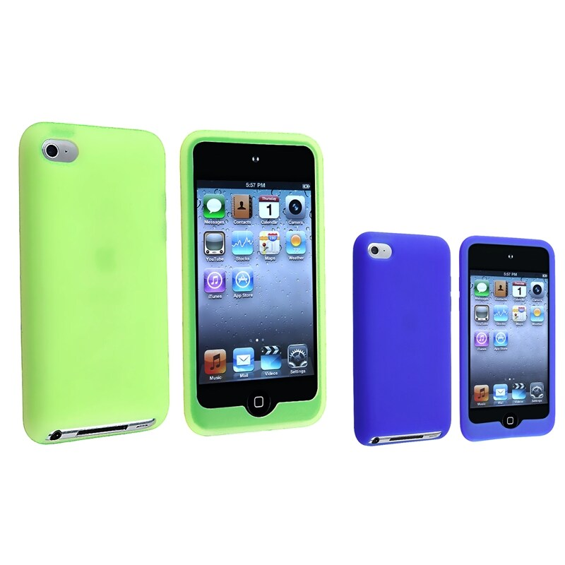 Blue Skin Case/ Green Skin Case for Apple iPod Touch 4th Generation