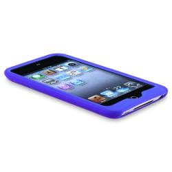 Blue Case/ Privacy LCD Protector for Apple iPod Touch 4th Generation